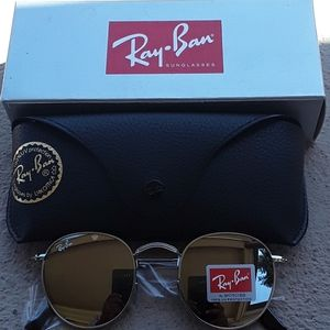 Brand New Silver RayBan Metal Rounds 50mm